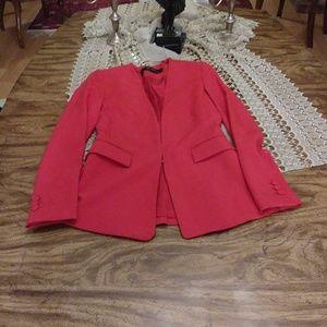 Zara red blazer jacket